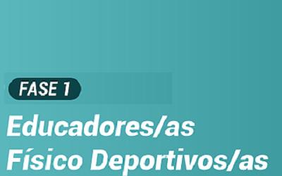 OS/AS EDUCADORES/AS FÍSICO DEPORTIVOS/AS ANTE A FASE 1