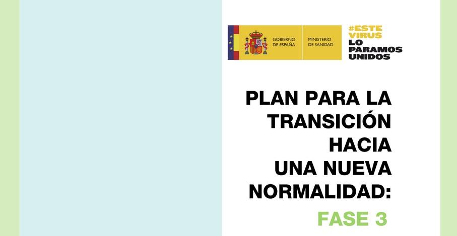 DEPORTE NO PLAN DE TRANSICIÓN PARA A FASE 3