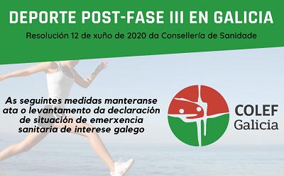 O DEPORTE LOGO DE SUPERAR A FASE III: COMO SERÁ NA COMUNIDADE AUTÓNOMA GALEGA