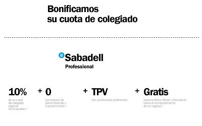 RENOVACIÓN DO CONVENIO COLEXIAL COA ENTIDADE BANCO SABADELL