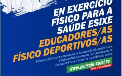EN EXERCICIO FÍSICO PARA A SAÚDE ESIXE EDUCADORES/AS FÍSICO DEPORTIVOS/AS