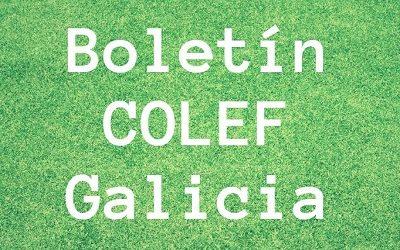Consulta o Boletín informativo do COLEF Galicia do mes de Decembro 2020