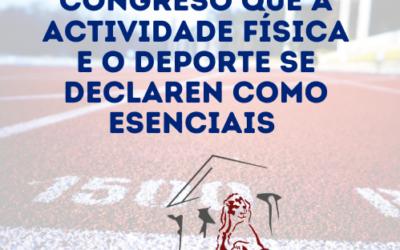 APRÓBASE NO CONGRESO QUE A ACTIVIDADE FÍSICA E O DEPORTE SE DECLAREN ESENCIAIS (18/02/2021)