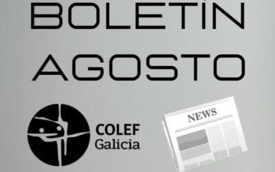 Consulta o Boletín informativo do COLEF Galicia do mes de Agosto 2021