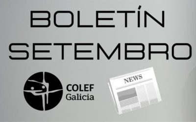 Consulta o Boletín informativo do COLEF Galicia do mes de Setembro 2021